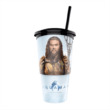 Aquaman pohár és Black Manta topper popcorn tasakkal