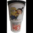 Gru 3 pohár kecske topperrel és popcorn tasakkal