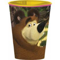 Mása és a medve műanyag pohár