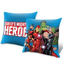 Bosszúállók kétoldalas díszpárna - Vasember, Amerika Kapitány, Hulk és Thor