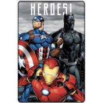 Marvel Bosszúállók polár takaró (Vasember, Amerika Kapitány, Fekete Párduc)