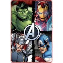 Bosszúállók: Ultron kora polár takaró, ágytakaró (Vasember, Amerika Kapitány, Hulk, Thor)
