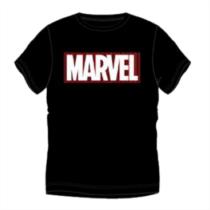 Marvel logó férfi rövid ujjú póló - Fekete színben