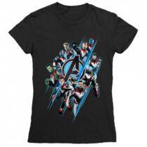 Bosszúállók: Végjáték női rövid ujjú póló - A csapat fekete színben