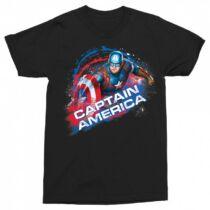 Amerika Kapitány férfi rövid ujjú póló fekete színben