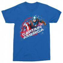 Amerika Kapitány férfi rövid ujjú póló királykék színben