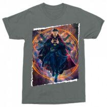 Sötétszürke Doctor Strange férfi rövid ujjú póló