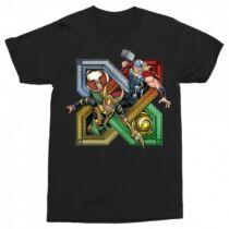 Fekete Thor és Loki férfi rövid ujjú póló