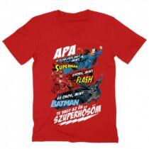 Apa, Te vagy az én szuperhősöm - DC Comics hősök - férfi V-nyakú póló