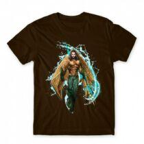 Aquaman férfi rövid ujjú póló - Logó - Több színben