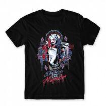 Harley Quinn férfi rövid ujjú póló - Graffiti