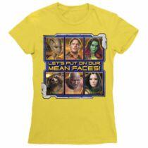 A galaxis őrzői női rövid ujjú póló - Mean Faces