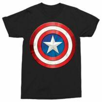 Amerika Kapitány férfi rövid ujjú póló - A pajzs - Több színben