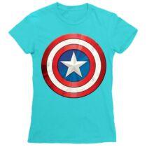 Amerika Kapitány női rövid ujjú póló - A pajzs - Több színben