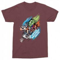 Marvel Bosszúállók férfi rövid ujjú póló - Earth's Mightiest Heroes