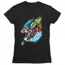 Marvel Bosszúállók női rövid ujjú póló - Earth's Mightiest Heroes