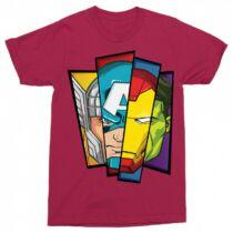 Bosszúállók - Avengers férfi rövid ujjú póló - Arcok - Több színben
