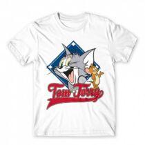 Tom és Jerry férfi rövid ujjú póló - Badge