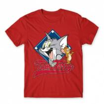 Tom és Jerry gyerek rövid ujjú póló - Badge