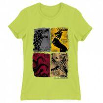 Trónok harca női rövid ujjú póló - Ellenségek - Több színben