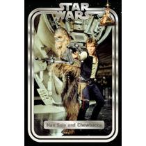 Star Wars plakát - Han Solo és Chewbacca klasszikus