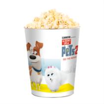 A kis kedvencek titkos élete 2 dombornyomott popcorn vödör