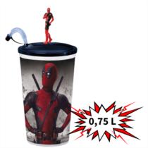 Deadpool 2 0,75 literes pohár és topper (álló Deadpool)