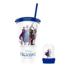 Jégvarázs 2 pohár és hógömb topper - Elza és Anna hóesésben