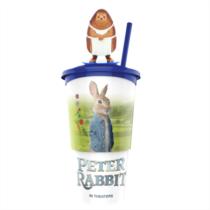 Nyúl Péter pohár, Mrs. Tiggy topper és popcorn tasak (színes topper)