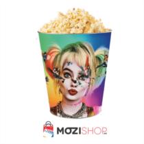 Ragadozó madarak - Harley Quinn dombornyomott popcorn vödör
