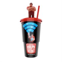 Ralph lezúzza a netet pohár, Rontó Ralph topper (fekete pohár)