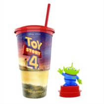 Toy Story 4 pohár és Kis zöld űrlény topper