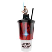 Star Wars: Az utolsó Jedik pohár és Rey topper és popcorn tasak