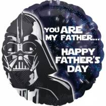 Star Wars fólia lufi - Happy Father's Day (43 cm)