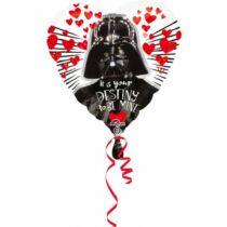 Star Wars fólia lufi - I love Darth Vader (43 cm-es)