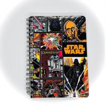 Star Wars spirálos notesz A/6-os - Több változatban