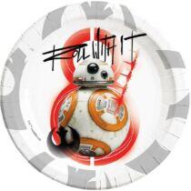 Star Wars papírtányér BB-8 - 8 darabos, 23 cm-es szett