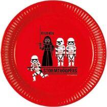 Star Wars papírtányér 23 cm 8 db-os szett - Kylo Ren és rohamosztagosok