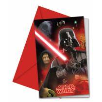 Star Wars Party meghívó - Darth Vader - 6 darabos