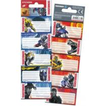 Transformers füzetcímke - 10 darabos készlet