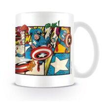 Amerika Kapitány bögre - Marvel Retro Panels