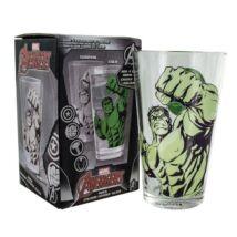 Bosszúállók üvegpohár - Hulk - Hőre változó mintával