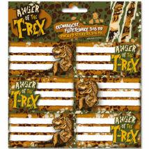T-REX csomagolt füzetcímke (3x6 db)