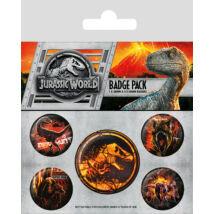 Jurassic World: Bukott birodalom kitűző szett