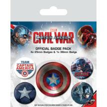 Amerika Kapitány: Polgárháború kitűző szett - Captain America