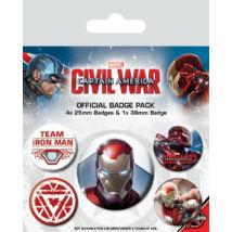Amerika Kapitány: Polgárháború kitűző szett - Iron Man