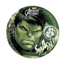 Bosszúállók papírtányér 23cm 8db-os szett - Hulk