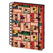 Marvel Comics spirálos jegyzetfüzet A5