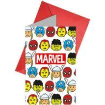Marvel Bosszúállók Party meghívó - 6 darabos