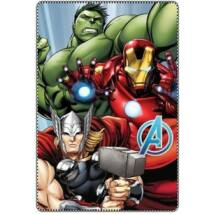 Bosszúállók polár takaró, ágytakaró - Hulk, Vasember, Thor